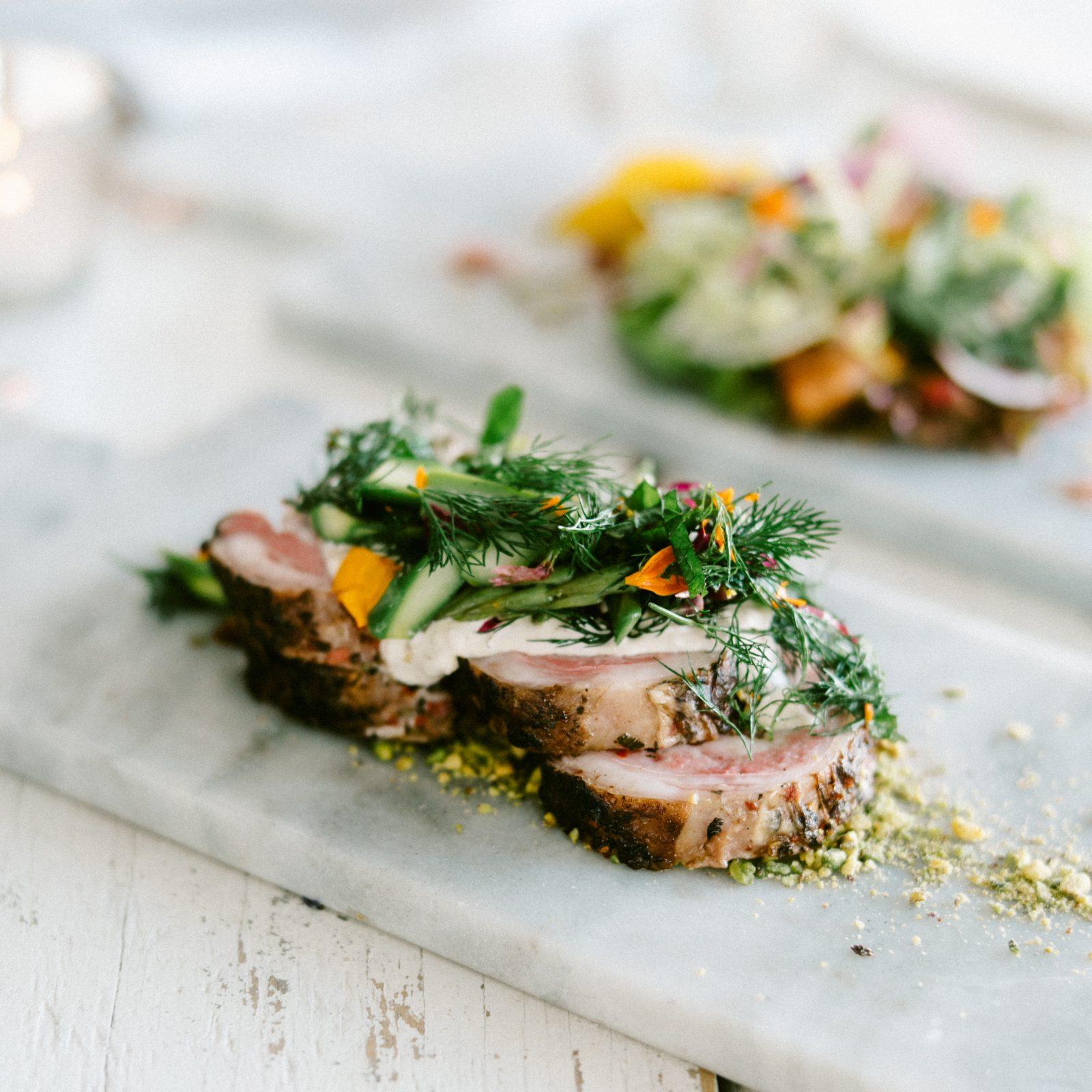 spring lamb dish