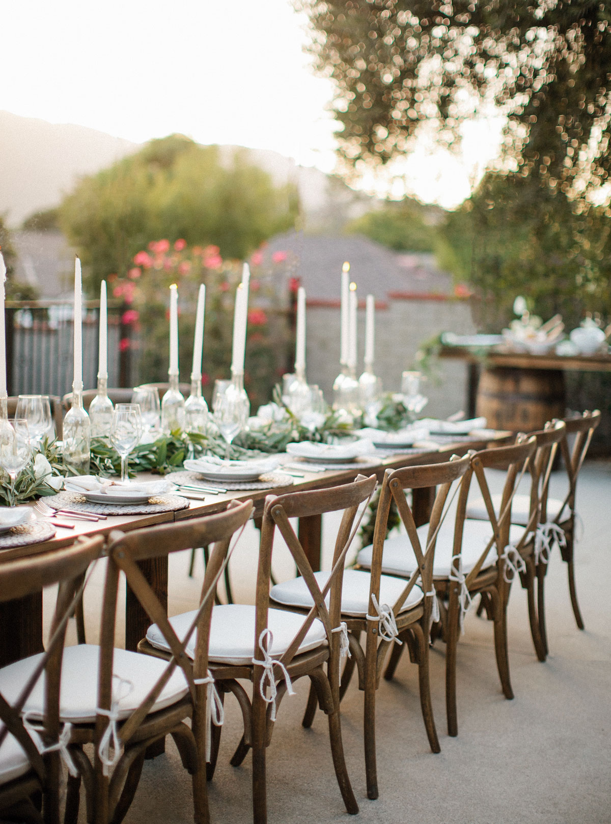 Held At The Backyard Of My Parents Home We Displayed An Ultimate Romantic Sonoma Feel Event Using Braided Placemats Lush Garlands Olive And